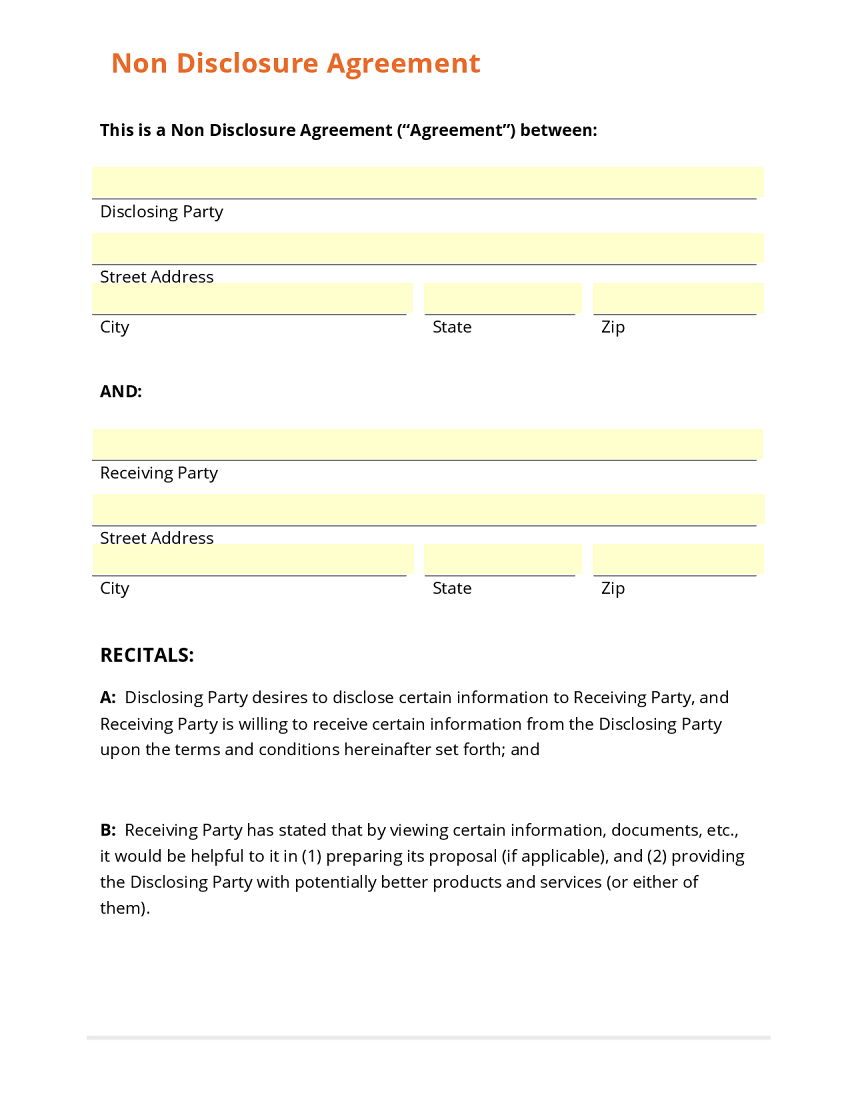 Confidential Disclosure Agreement  Confidentiality Clause Contract