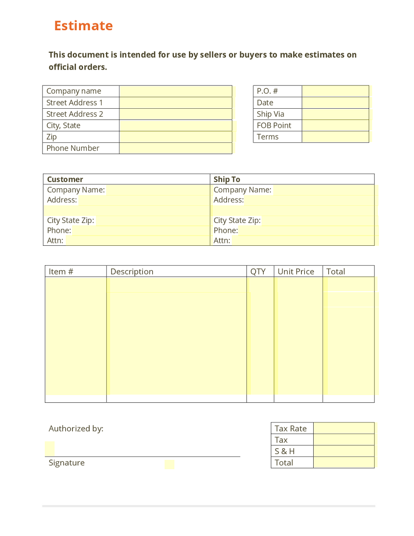 estimate template estimate partial view use template to see entire form