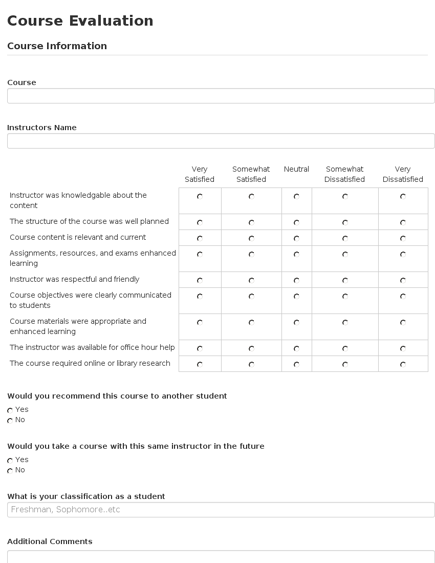Cool Instructor Evaluation Template Contemporary - Entry Level ...