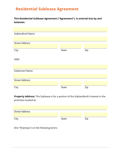 Real Estate Templates – Sample Sign Up Sheet