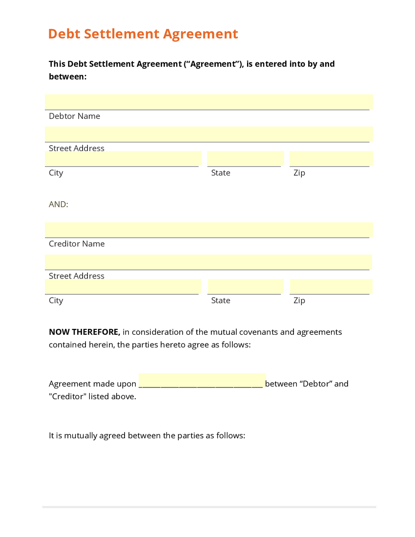 loan repayment contract free template simple personal