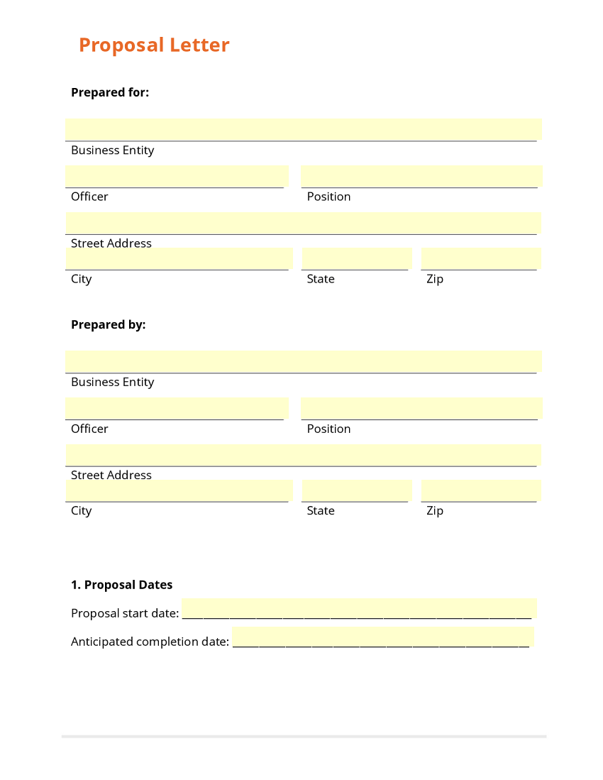 proposal letter partial view use template to see entire form