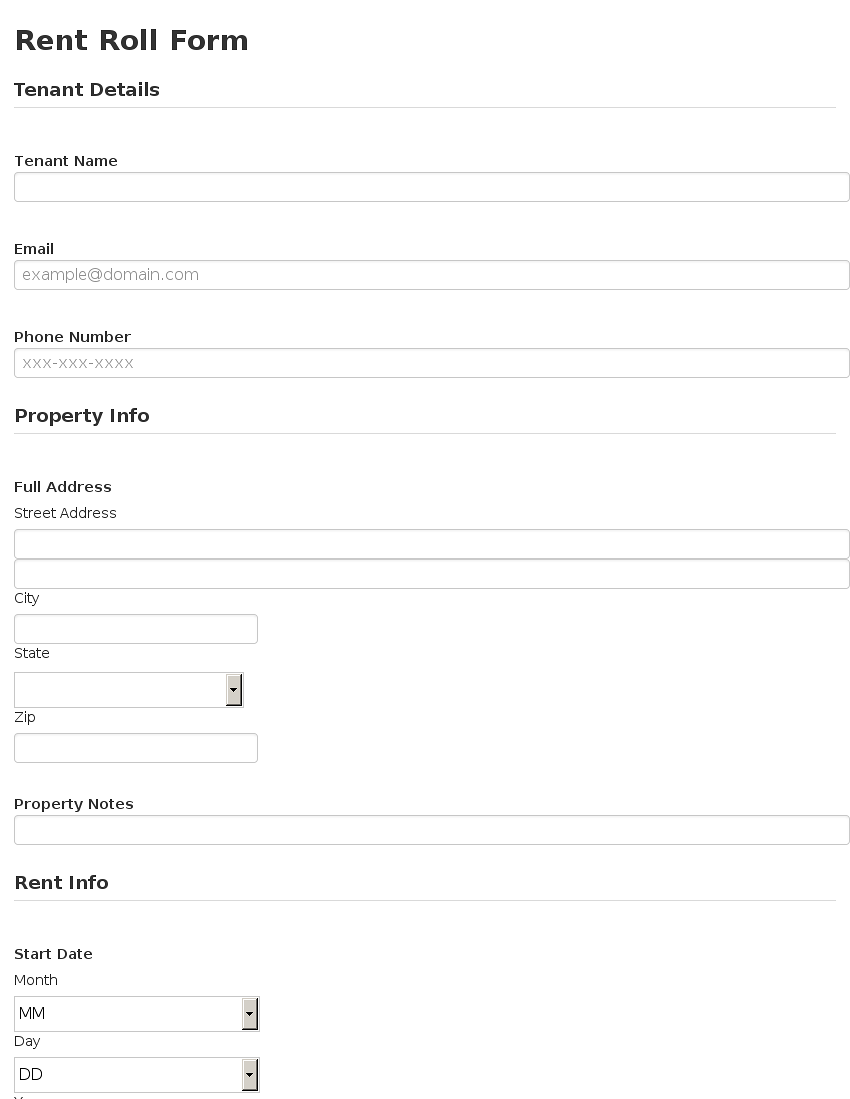 rent roll form template use template to see entire form