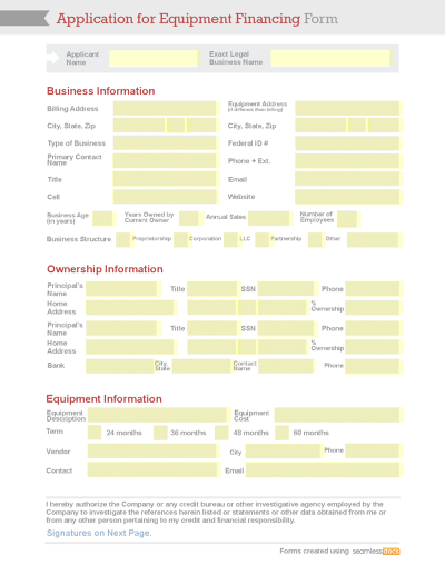 Business Templates – New Business Client Information Template