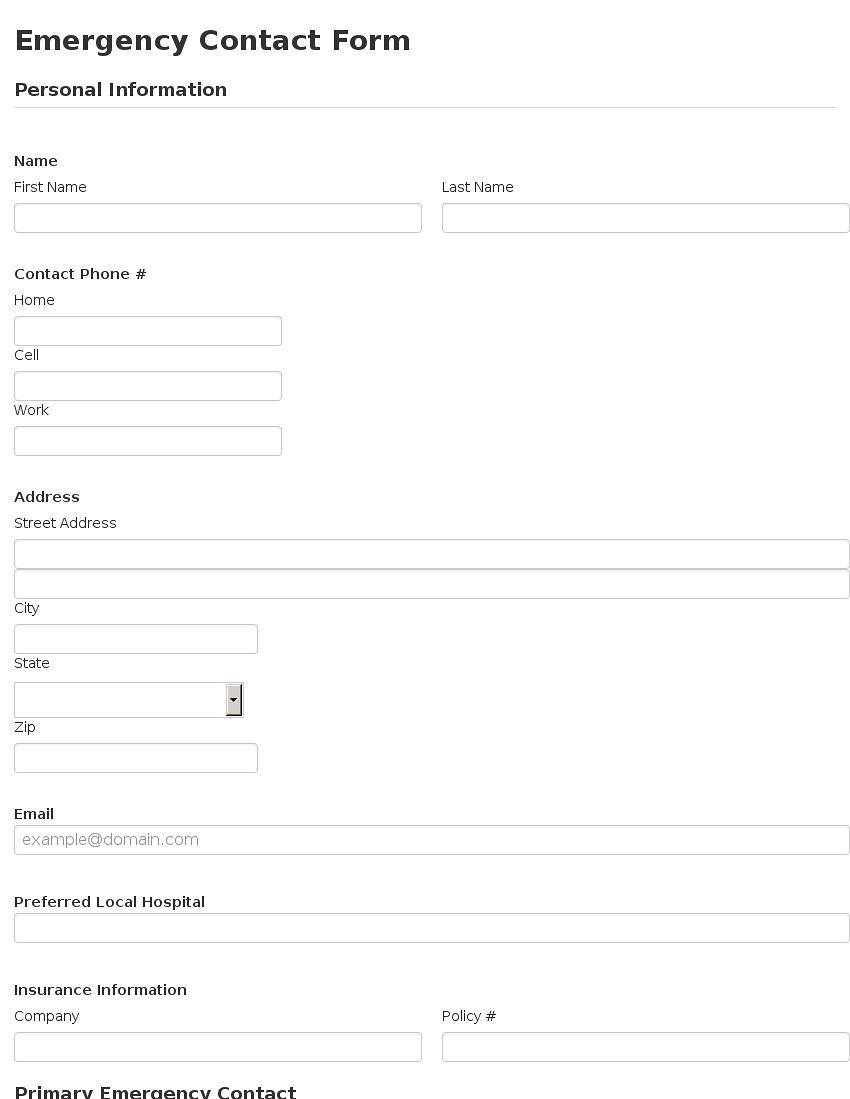 tuesday january 3rd 2017 emergency contact form bootstrap 3 – Emergency Contact Forms
