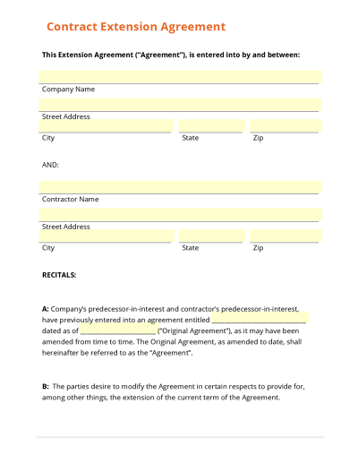 Doc460595 Sample of Contract Agreement Between Two Companies – Legal Agreements Between Two Parties