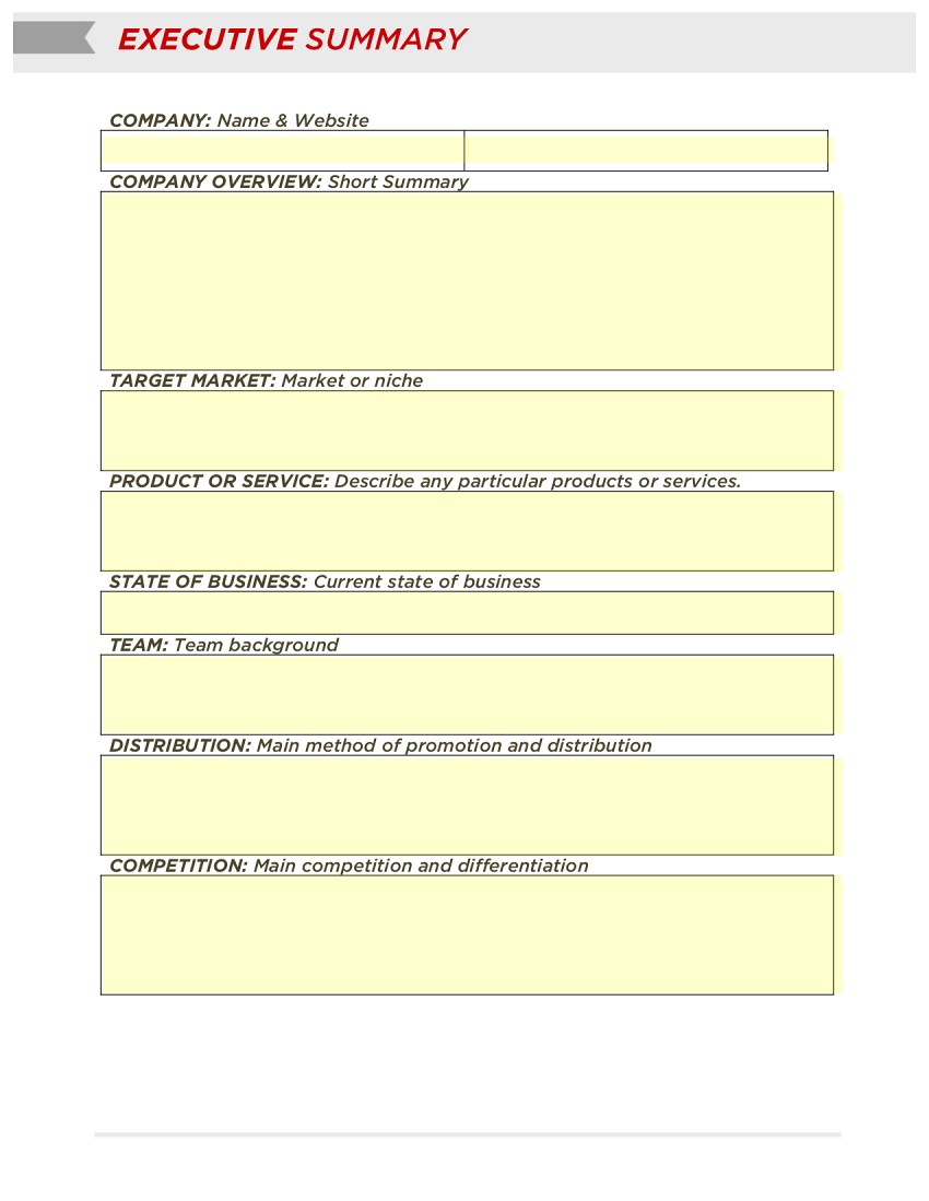 Doc It Executive Summary Template 31 Executive Summary – How to Write an Effective Executive Summary